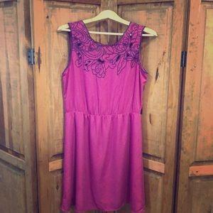 Medium raspberry colored dress